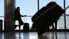 Airport Passengers Stock Footage