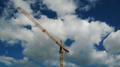 Stock Video Footage of Construction crane against the sky