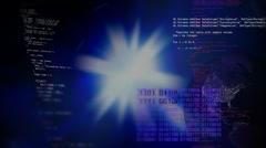 Stock market. Programming. Binary data code. HD Stock Footage