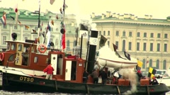 An old steamer Stock Footage