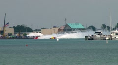 Gold Cup hydroplane races Saturday 07-09-11 Stock Footage