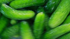 Cucumbers In Farm Washing Machine - stock footage