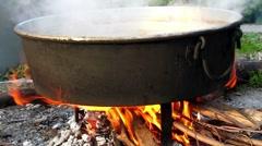 Crucible boiler 02 Stock Footage