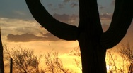American West Sunset Stock Footage