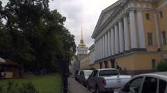 Admiralty Building in St Petersburg Stock Footage