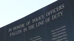 Police Fallen in the Line of Duty B Stock Footage