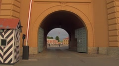 The Arch of the peter and paul fortress Stock Footage