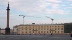 The palace square in st. Petersburg Stock Footage