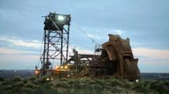 giant bucket wheel excavator - stock footage