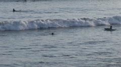 Surfin in Beach in Venice Beach, USA - stock footage