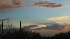 Arizona Desert Landscape Sunset Stock Footage