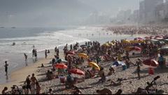 Copacabana Beach Rio de Janeiro, Brazil FULL HD 1080P - stock footage