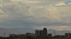 HD 30p close up 2 Monsoon thunderheads build up over the city time lapse Stock Footage