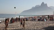 Stock Video Footage of Kick ball game in Copacabana Beach Rio de Janeiro, Brazil FULL HD 1080P