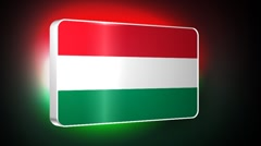 Hungary 3d flag Stock Footage