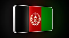Afghanistan 3d flag Stock Footage