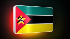 Mozambique 3d flag Stock Footage