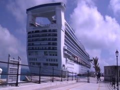 Carribean Princess Cruise Ship - stock footage