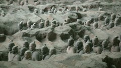 Terracotta Army in Xian, China Stock Footage