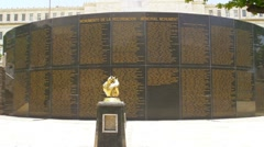 Puerto Rico - Soldiers Memorial Monument who served in the US Armed Forces Stock Footage