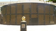 Stock Video Footage of Puerto Rico - Soldiers Memorial Monument who served in the US Armed Forces