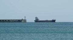 Tanker ship near Tarragona, Spain Stock Footage