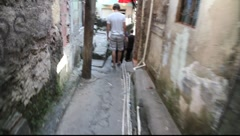 Walking down Favela Rocinha, Rio de Janeiro, Brazil FULL HD 1080P - stock footage