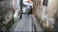 Walking down Favela Rocinha, Rio de Janeiro, Brazil FULL HD 1080P Stock Footage