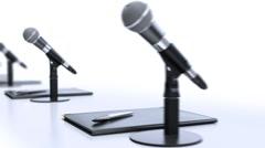 Microphones HD, loop. Stock Footage
