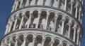 People in leaning tower in Cathedral Square, Pisa, Italy Footage