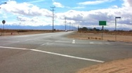 Rural Mojave Desert Intersection Stock Footage