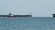 Stock Video Footage of Tanker ship near Tarragona, Spain