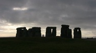 Stonehenge in the Morning 9 Stock Footage