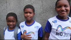 Brazilian kids in Rio de Janeiro Brazil FULL HD 1080P Stock Footage