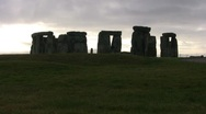 Stonehenge in the Morning 10 Stock Footage