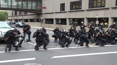 Stock Video Footage of Protestors - Police prepare, Republican National Convention 08'