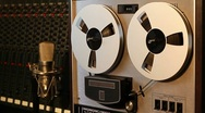 Stock Video Footage of Stereo reel to reel tape recorder