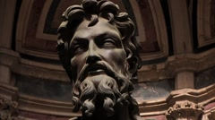 Beautiful sculpture of craftsman in Florence, Italy Stock Footage