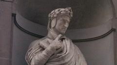 Dante Allighieri - Florence Stock Footage
