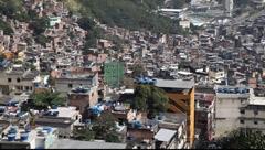 Favela Rocinha, Rio de Janeiro, Brazil FULL HD 1080P - stock footage