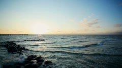 Sea sunset - stock footage