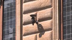 Florence - historic street light Stock Footage