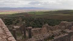 Roman settlement, Dougga, Tunisia Stock Footage