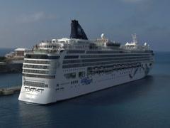 Norwegian Dawn Cruise Ship 1 Stock Footage