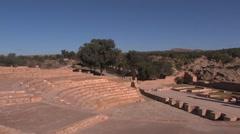 Roman settlement - theater Stock Footage