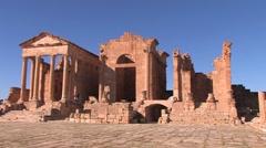 Roman settlement, Tunisia, Makthar Stock Footage