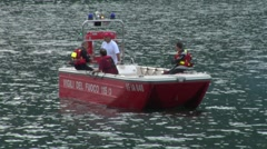 fire boat italy 02 e - stock footage