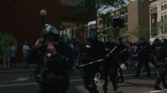 Protestors - Police hold the line, Republican National Convention 08' Stock Footage