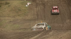 Race in difficult conditions Stock Footage