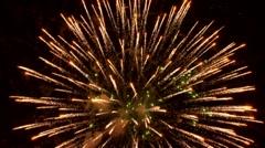 Festival with fierverkom - stock footage